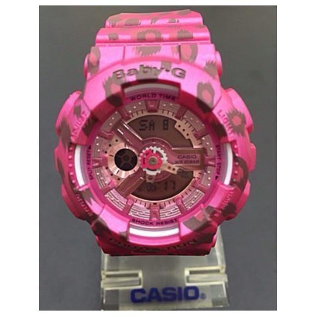 少女時代代言款 CASIO 手錶 BABY-G多層次立體錶盤豹紋系列錶