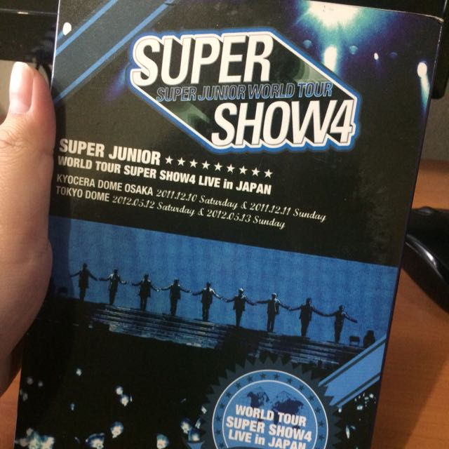 [ Preloved ] SUPER JUNIOR's Super Show 4 World Tour in Japan ( 5 dvds )