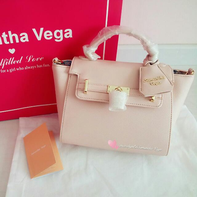 Non Followers Cannot Join Bid Authentic Brand New Receipt Samantha Vega Pink Lock Bag Great Size Not Heavy Sling Shoulder Carry Bought Singapore