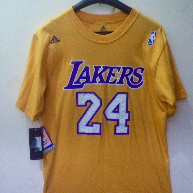 new arrival 806d8 768ad Authentic Adidas T-Shirt - La Lakers Jersey Kobe Bryant ...