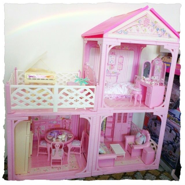 Barbie Vintage Sweet Roses Collector Dollhouse Furniture 1981 For