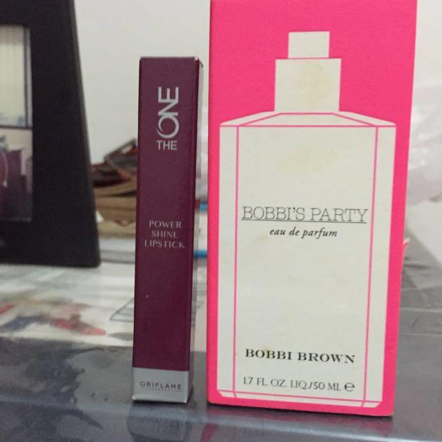 Bobbi Brown Perfume & Oriflame Lipstick