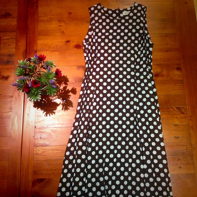 Brown Polka Dot Maxi
