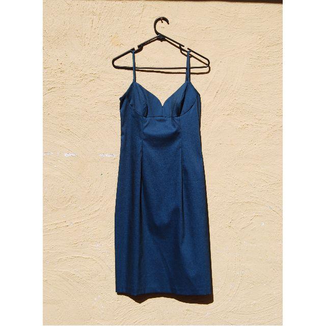 CUE Blue Cocktail Body Con Slip Dress