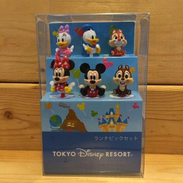 Disney 東京迪士尼 米奇 米妮 奇奇 蒂蒂 唐老鴨 黛絲 水果叉六支一組