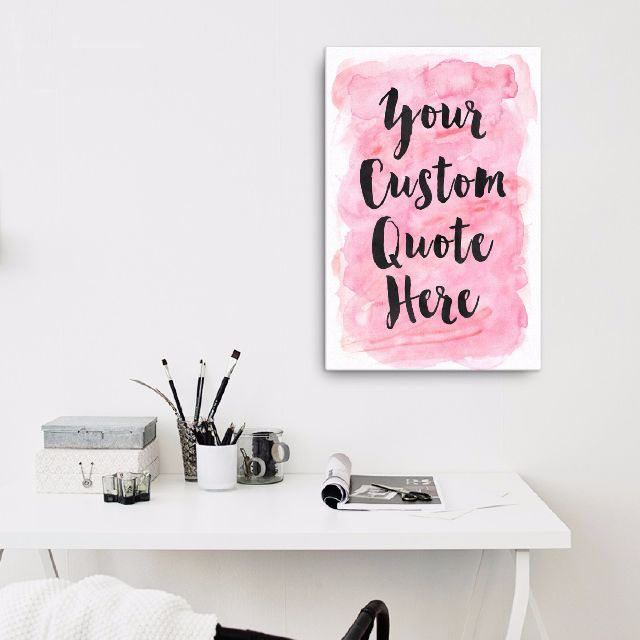 Framed Canvas Custom Modern Calligraphy Quote Design, Customized ...