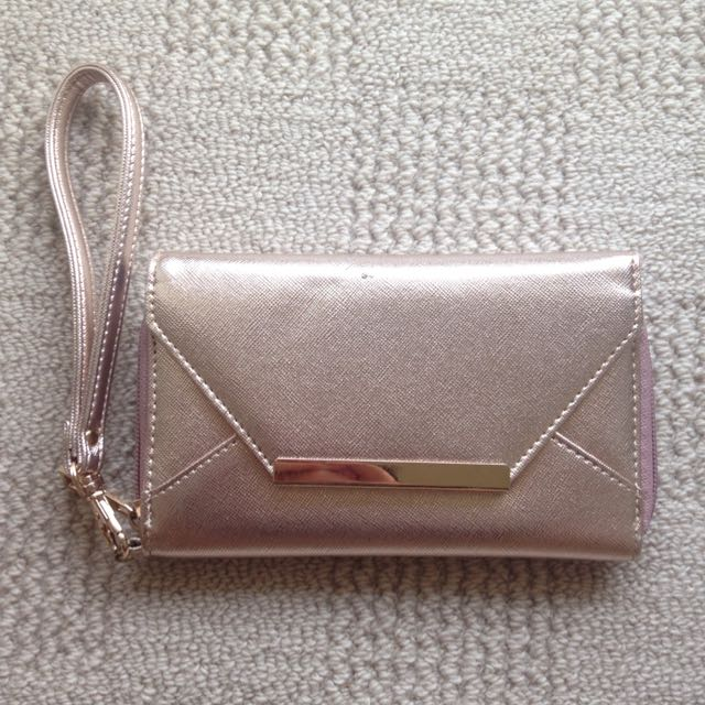 Gold Purse With Detachable Handle