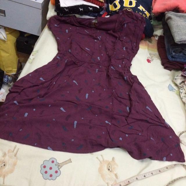 H&m Feathers Print Summer Dress