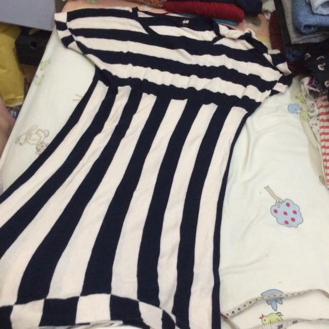 Hnm Knitted Stripes Dress