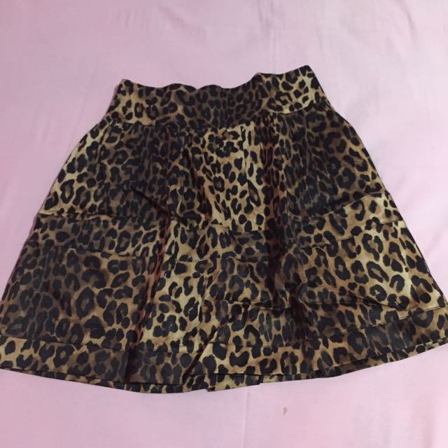 Leopard Black Skirt