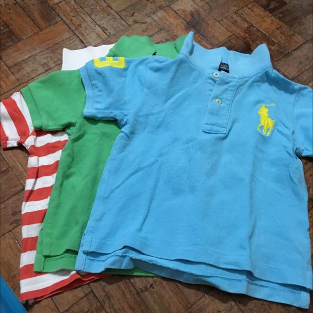 Lot Of 3 baby Boy Polo Shirts