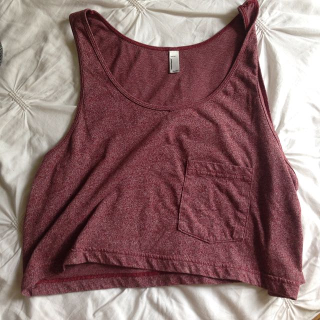 Maroon American Apparel Crop Too