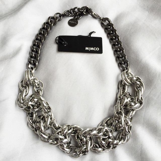 Mimco Braided Rope Chain Choker