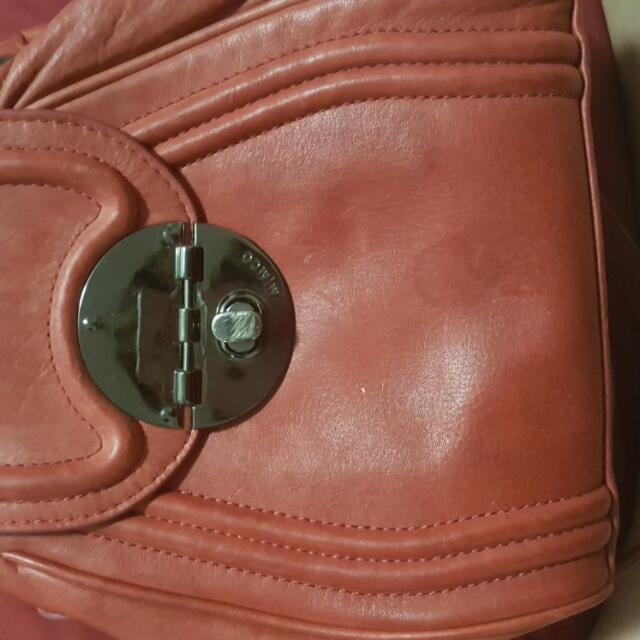 Mimco Mars Red Hip Bag