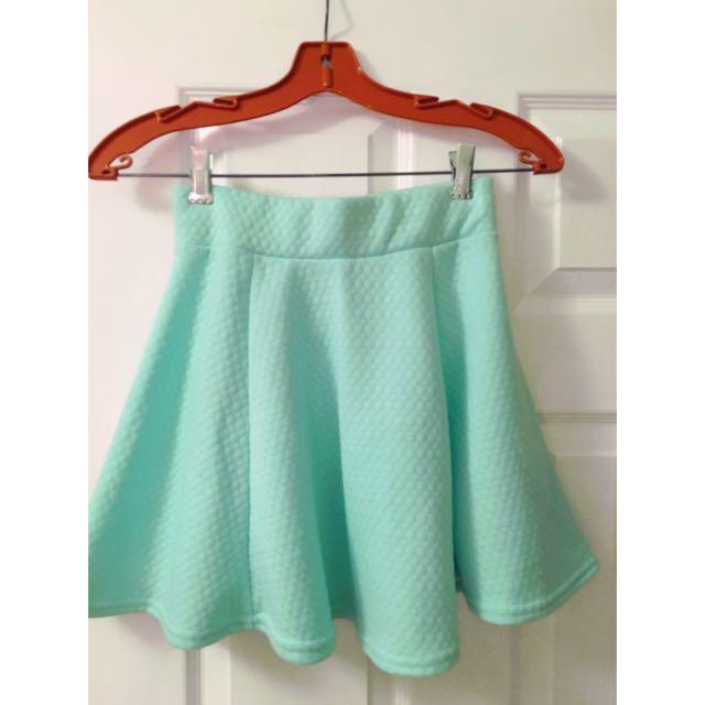 Mint Green A-line Skirt XS