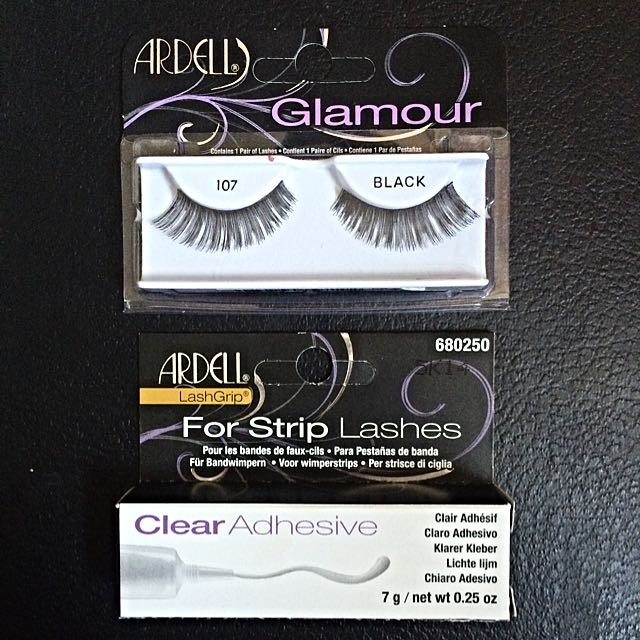 NEW False Eyelashes + Glue