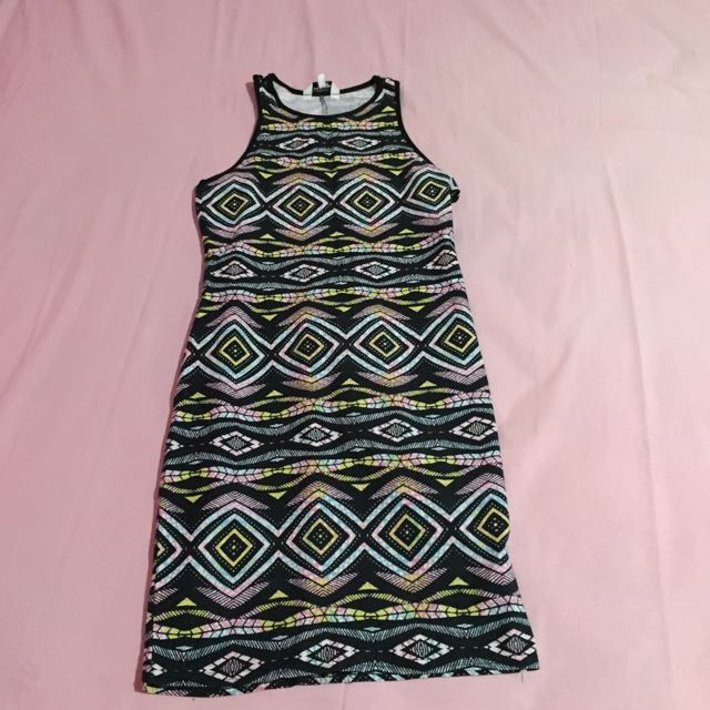 New Look Sleeveless Tribal Dress