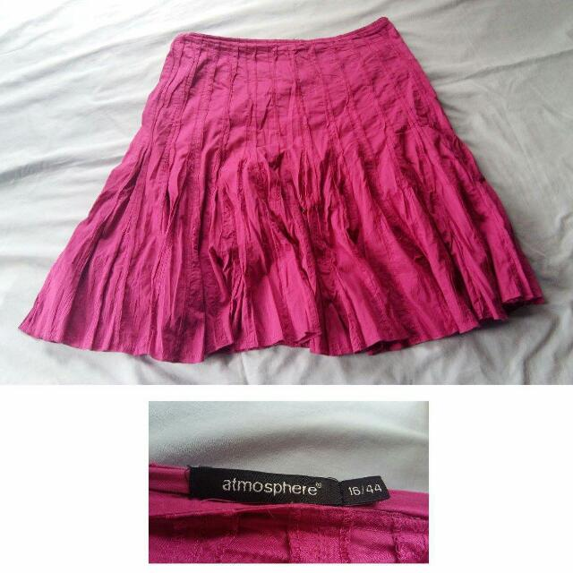 Plus Size Branded Fushcia Frilly Skirt
