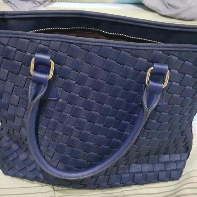 SALIDONO 深藍女用公事編織袋