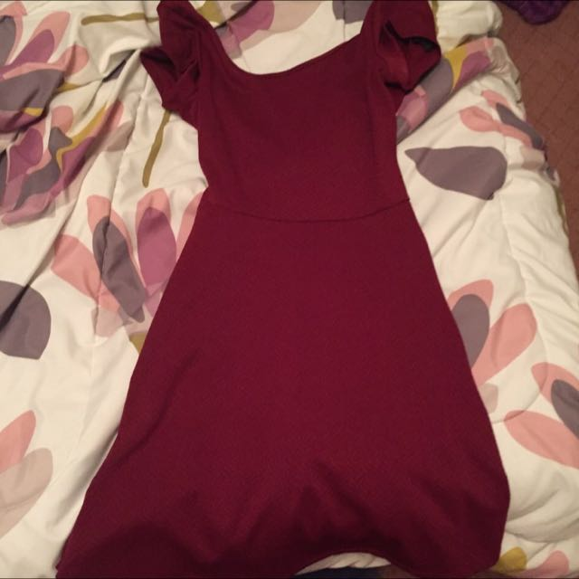 Selling This Beautiful Burgundy Dress