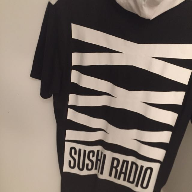 SUSHI RADIO hooded Tee L