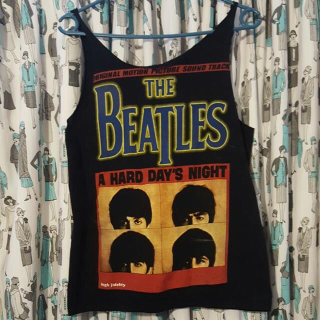 The Beatles Hard Day's Night Singlet M