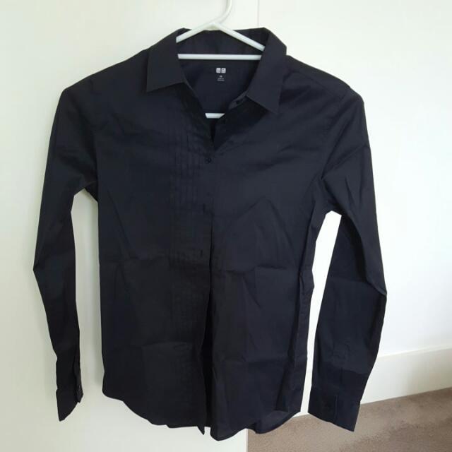 UNI QLO Black Shirt
