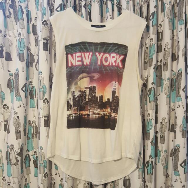 """White New York """"Forever 21"""" Top"""
