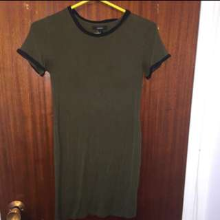 Olive Green T-Shirt Dress: NEED GONE ASAP