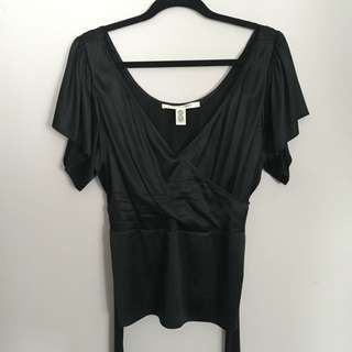 Black Silk Top