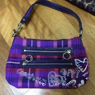 🚚 Coach紫色經典手提小包