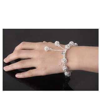 S925銀氣質鏤空玲瓏串珠手鍊手鏈 純銀 Bracelet hand chain