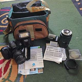 Minolta 450si Film Camera / 70-300 Lens + Acces.
