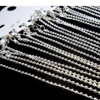銀色圓珠款金屬項鍊