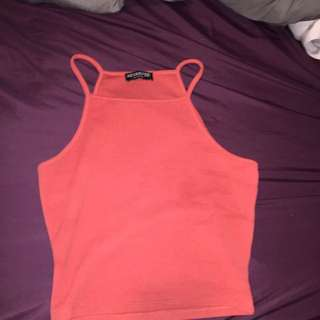 Burnt Orange Colour Crop Top