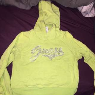 Authentic Guess Lime Green Crop Sweater