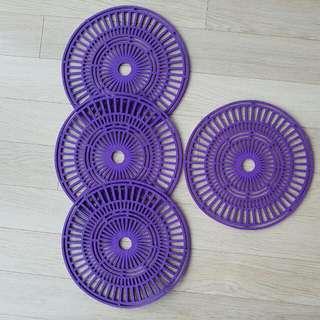 purple felt(ish) placemats