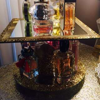 Last One Left-Glittery Gold Rotating Perfume/makeup Display