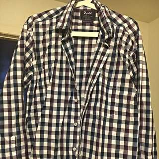 Purple, White, Blue Shirt- Size M