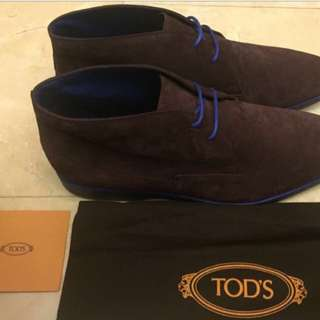 TOD's Suede Chukka Boots UK9 US10 Uk 9 Us 10 Men's Shoes