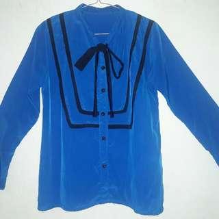 Blue Korean Blouse