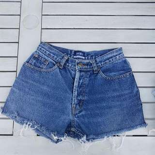 High Wasited Denim Short Shorts Sz 6