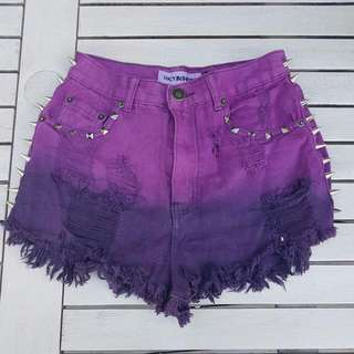 High Waisted Purple Shorts Sz 8