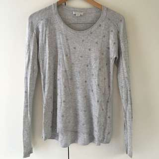 Witchery Grey Knit Jumper With Silver Spots Size S