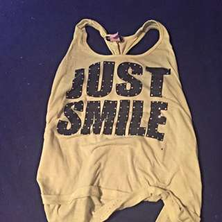 "Yellow ""just Smile"" Shirt"