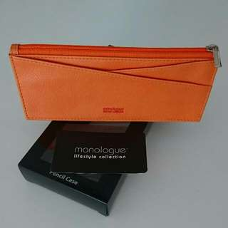 Monologue Pencil Case In Orange