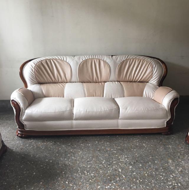 1+2+3人座原木沙發