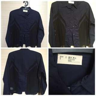 XSML Blue Sheer Shirt