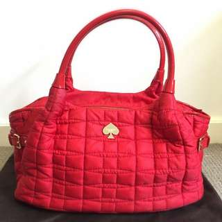 Original Used Kate Spade Quilted Nylon Signature Stevie Bag