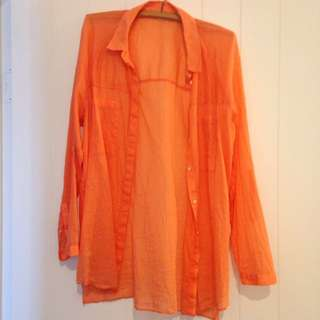 Country Road orange long cotton top